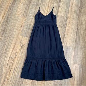 Navy Blue Long  Summer Dress